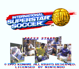 International Superstar Soccer Deluxe (USA) Title Screen
