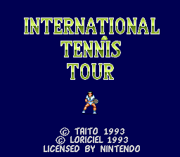 International Tennis Tour (USA) Title Screen