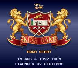 Irem Skins Game, The (USA) Title Screen