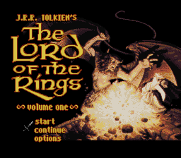 J.R.R. Tolkien's The Lord of the Rings - Volume One (USA) Title Screen
