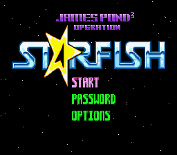 James Pond 3 - Operation Starfish (Europe) Title Screen