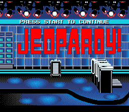 Jeopardy! - Sports Edition (USA) Title Screen