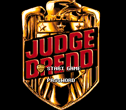 Judge Dredd (Europe) Title Screen