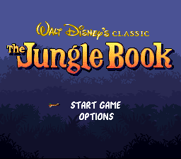 Jungle Book, The (Japan) Title Screen