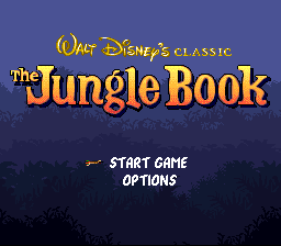 Jungle Book, The (USA) (Beta) Title Screen