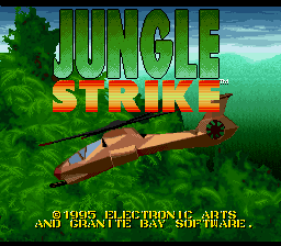 Jungle Strike (Europe) Title Screen