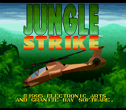 Jungle Strike (Japan) Title Screen