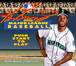 Ken Griffey Jr. Presents Major League Baseball (USA) Title Screen