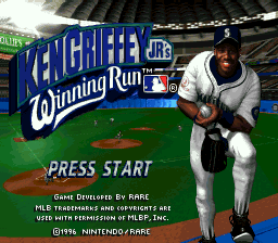 Ken Griffey Jr.'s Winning Run (USA) Title Screen