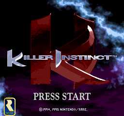 Killer Instinct (Europe) Title Screen