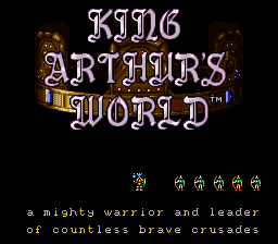 King Arthur's World (USA) (Beta) Title Screen