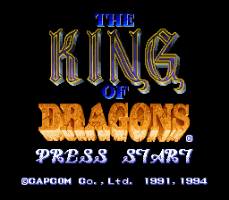 King of Dragons, The (USA) Title Screen