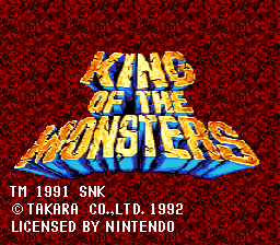 King of the Monsters (USA) Title Screen
