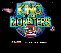 King of the Monsters 2 (USA) Title Screen