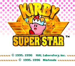 Kirby Super Star (USA) Title Screen