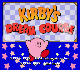 Kirby's Dream Course (Europe) Title Screen