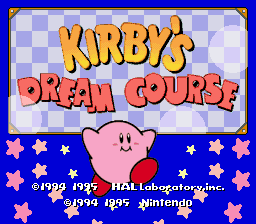 Kirby's Dream Course (USA) Title Screen