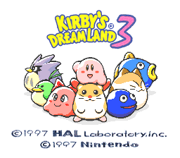 Kirby's Dream Land 3 (USA) Title Screen