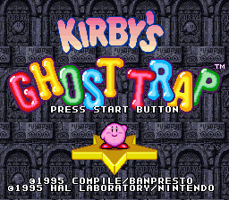 Kirby's Ghost Trap (Europe) Title Screen