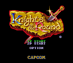 Knights of the Round (Europe) Title Screen