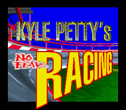 Kyle Petty's No Fear Racing (USA) Title Screen