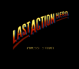 Last Action Hero (Europe) Title Screen
