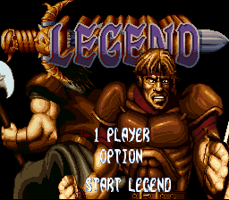 Legend (USA) Title Screen