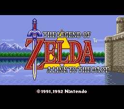Legend of Zelda, The - A Link to the Past (Europe) Title Screen