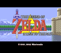Legend of Zelda, The - A Link to the Past (France) Title Screen