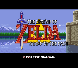 Legend of Zelda, The - A Link to the Past (Germany) Title Screen