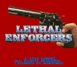 Lethal Enforcers (Europe) Title Screen