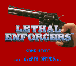 Lethal Enforcers (Japan) Title Screen