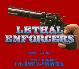 Lethal Enforcers (USA) Title Screen