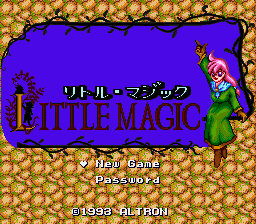 Little Magic (Japan) (Beta) Title Screen