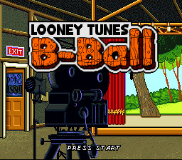 Looney Tunes B-Ball (USA) Title Screen