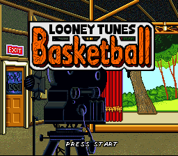 Looney Tunes Basketball (Europe) Title Screen