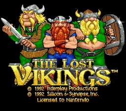 Lost Vikings, The (France) (En,Fr) Title Screen