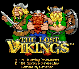 Lost Vikings, The (USA) (Beta) Title Screen
