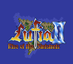 Lufia II - Rise of the Sinistrals (USA) Title Screen