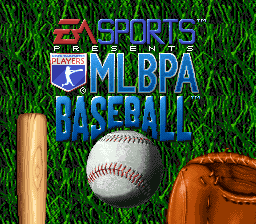 MLBPA Baseball (USA) Title Screen