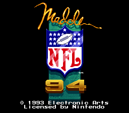 Madden NFL '94 (USA) Title Screen