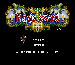 Magic Sword (Europe) Title Screen