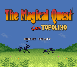 Magical Quest Starring Mickey Mouse, The (Italy) Title Screen
