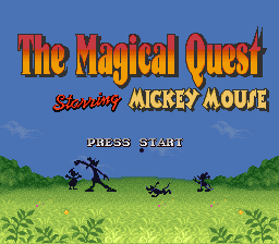 Magical Quest Starring Mickey Mouse, The (USA) (Beta) Title Screen