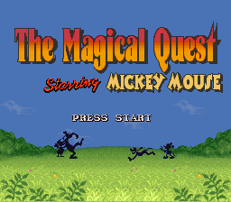 Magical Quest Starring Mickey Mouse, The (USA) Title Screen