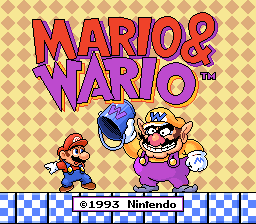 Mario & Wario (Japan) Title Screen
