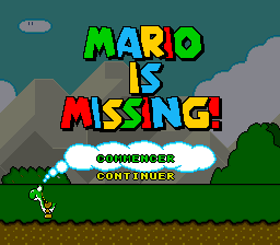 Mario is Missing! (France) Title Screen