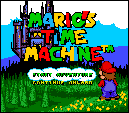 Mario's Time Machine (USA) Title Screen