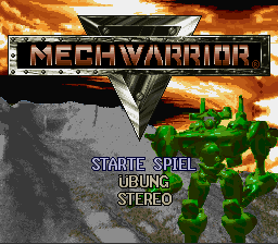 Mechwarrior (Germany) Title Screen