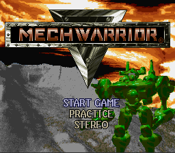 Mechwarrior (USA) Title Screen